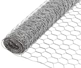 YARDGARD Poultry Netting Chicken Wire or Fence with 1'' Hexagon Mesh Weave - Flexible, Lightweight and Rust Resistance - 20 Gauge Steel, 36'' x 25'