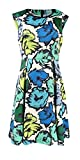 Plenty by Tracy Reese Women's Embellished Neck Dress (12, Graphic Multi Floral)