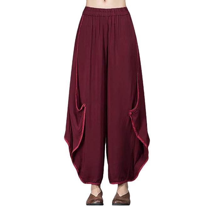 Pantalones Largos de chándal elásticos para Mujer Talla Grande ...