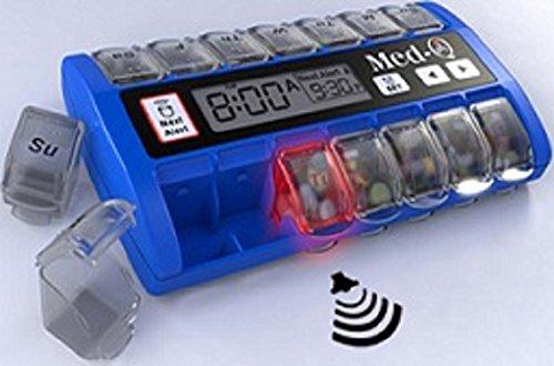 med-q-single-beep-reminder-automatic-medication-pill-box-dispenser-blue