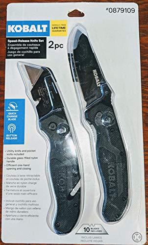 Kobalt 5-in 11-Blade Utility Knife Pocket Knife Set (Renewed)