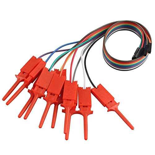 10pcs Dupont thread USB Logic analyzer Test Hook Clip Grabber Jumper Wires & Interface Pins Ideal for Electronic Experiment