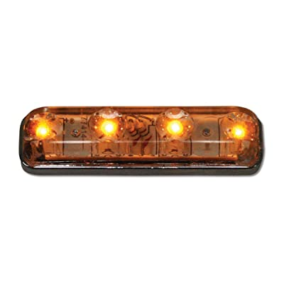 Grand General 77145 Marker Light (Small Rectangle Amber/Clear 4-LED), 1 Pack: Automotive
