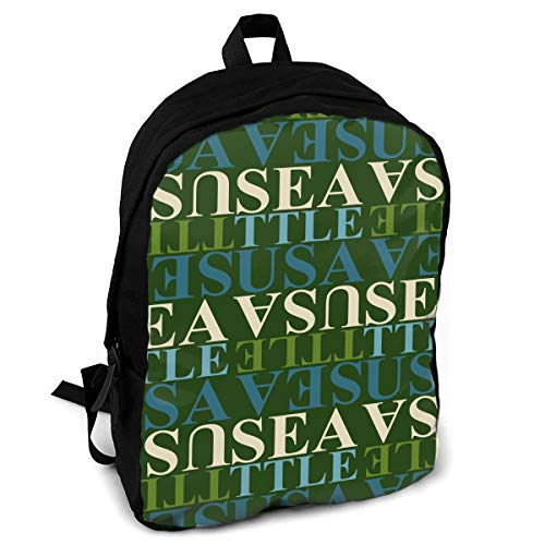 - Giinly Seattle USA Pattern Full-Size Printed Custom Multipurpose School Bag Backpack Travel Daypack for Adult