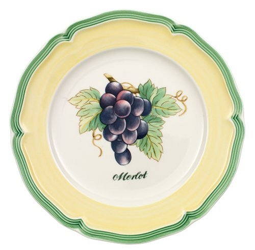 Villeroy & Boch French Garden Fleurence 81/4-Inch Cheese Plates, Merlot, Set of 4