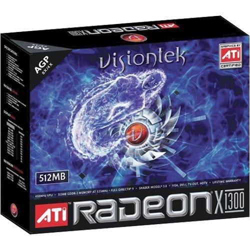 900125 VisionTek Radeon X1650 PRO 512MB AGP