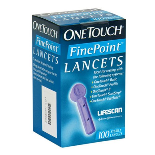 OneTouch Fine Point Sterile Lancets - 100 ea - One Touch Fine Point
