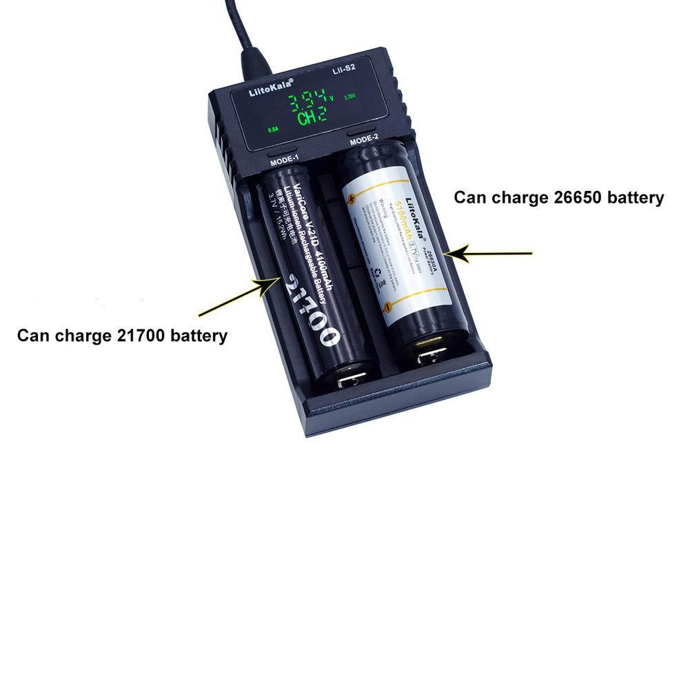 Amazon.com: Cargador de batería inteligente USB de 2 bahías ...