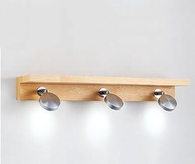 Spiegellampen- Einfache Holz LED Wandlampe Nacht WC Badezimmer ...