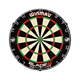 winmau blade 5 professional bristle dartboard black/white/red