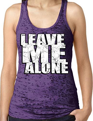 (Amdesco Ladies Leave Me Alone Burnout Racerback Tank Top, Purple Rush Large)