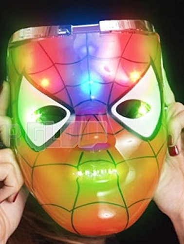 Light Up Flashing Mask In The Style Of Spider-Man