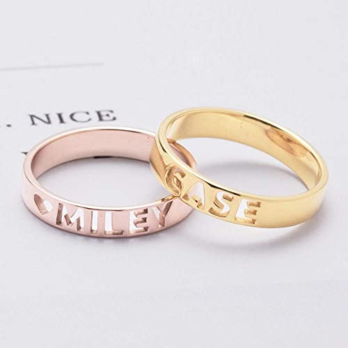 72cd4a87c2 Image Unavailable. Image not available for. Color: Graceful Rings Gix  Minimalist Personalized Couples ...