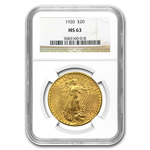 1920 $20 Saint-Gaudens Gold Double Eagle MS-63 NGC G$20 MS-63 NGC