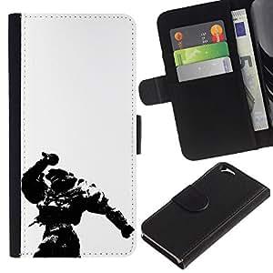 EJOY---Tirón de la caja Cartera de cuero con ranuras para tarjetas / Apple Iphone 6 / --Master Chief Hal0