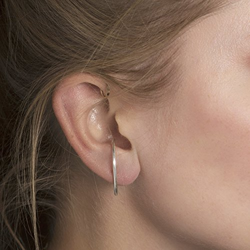 Ear Suspender Hoop Earring, Gold Filled, Rose Gold Filled, or Sterling Silver