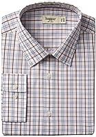 Haggar Men's Mechanical Stretch Poplin Windowpane Long-Sleeve Shirt