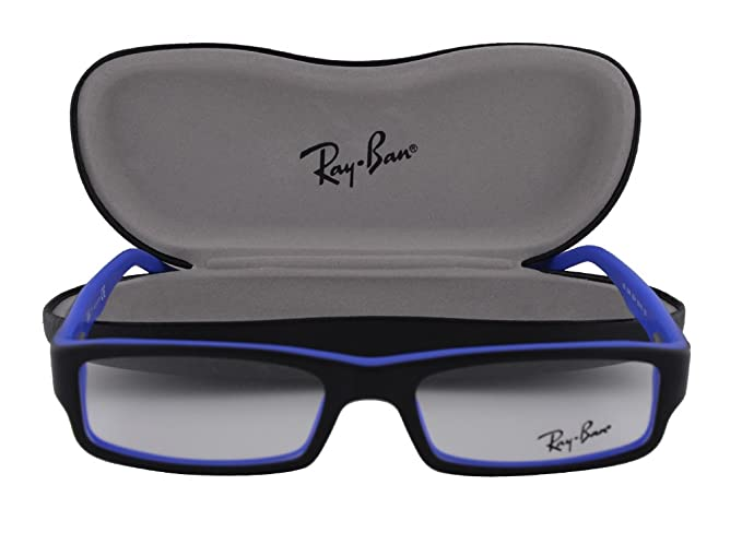 5d8722f95c Image Unavailable. Image not available for. Colour  Ray Ban RX5246  Eyeglasses 52-16-135 Top Black On Matte Blue 5224 RX