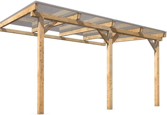 prikker-überdachungen Terraza Techo vordach Madera 400 x 300 cm ...