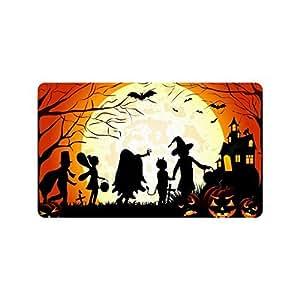 """Custom Personalized Halloween Decoration - Amazing Night Before Christmas Doormats Durable Hallowen Doormats Mats es Large Floor Mat Rug Indoor/Outdoors (23.6""""x15.7"""")"""