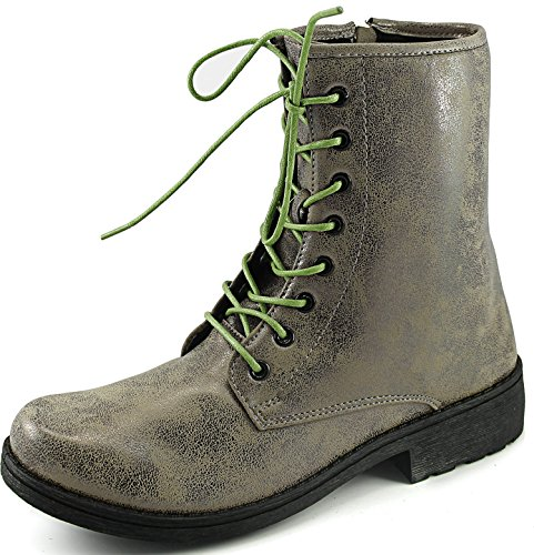 Womens Qupid Missile-04 Military Up Bootie Taupe Brz 2qviQRy
