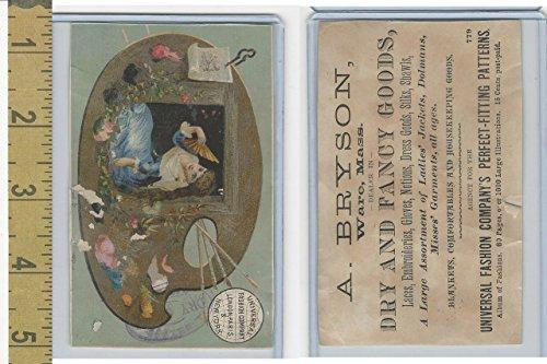 Victorian Card, 1890's, Universal Fashion, Bryson, Ware MA, Lady in Window ()