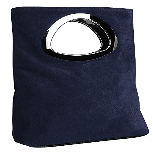 Bag Evening Large Navy Leather Women's Tote Wocharm blue Clutch Handbags Quality Suede Fantastic Designer Bag Best qg7BS