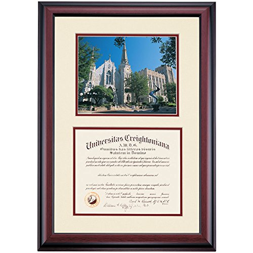 Creighton Bluejays Diploma Frame Ivory Maroon Matting Photograph by Campus Linens