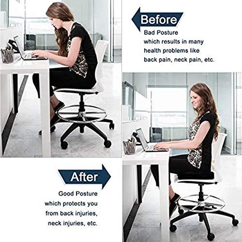 Big Hippo Seat Cushion Back, Sciatica Tailbone Pain Relief-Memory Foam Chair Seat Cushion Pad Wheelchair, Office & Car by Big Hippo (Image #5)