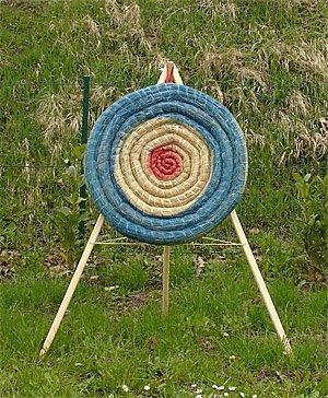 St/änder Set Strohzielscheibe 65cm 140cm