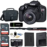 Canon EOS Rebel T6 18MP Wi-Fi DSLR Camera Body with 18-55mm IS II Lens Kit + Gadget Bag + 2x SanDisk 32GB SDHC Card + Reader + Cleaning Kit - 64GB Deluxe Accessories Bundle