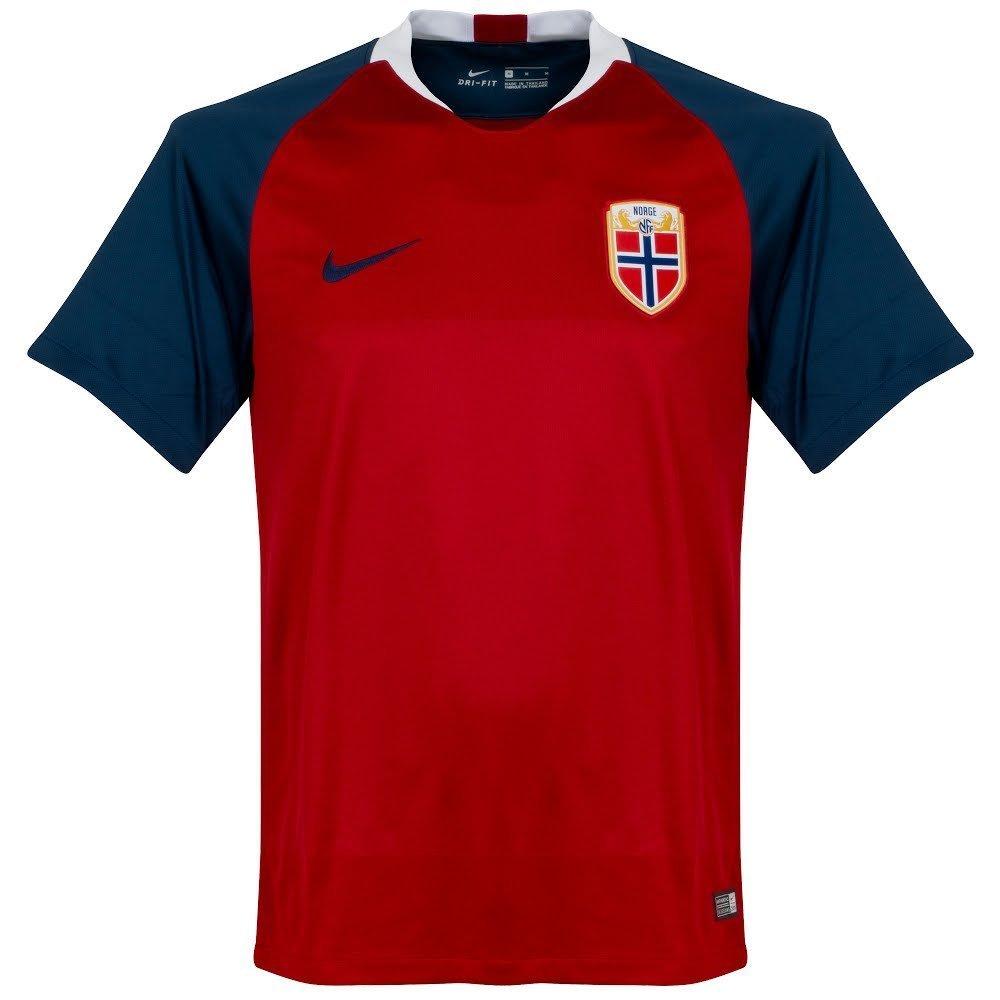 Nike 2018-2019 Norway Home Football Soccer T-Shirt Trikot
