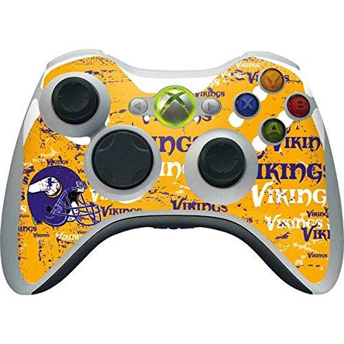 NFL Minnesota Vikings Xbox 360 Wireless Controller Skin - Minnesota Vikings - Blast Vinyl Decal Skin For Your Xbox 360 Wireless Controller