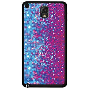 Blue and Pink Glitter Hard Snap on Phone Case (Note 3 III)