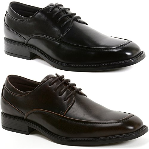 alpine swiss Mens Claro Oxfords Lined Lace Up Dress Shoes