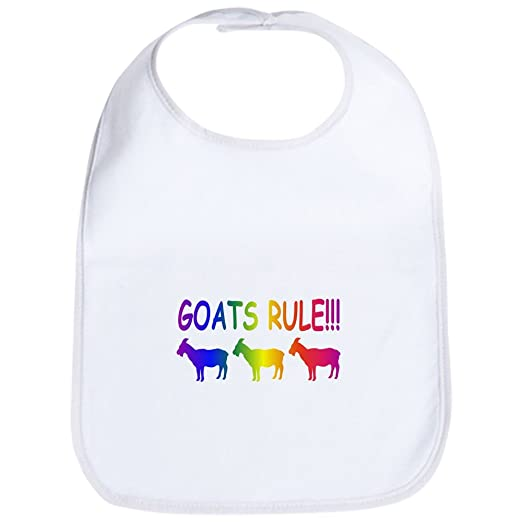 4c7c55ff15a Amazon.com  CafePress - Goats Rule Bib - Cute Cloth Baby Bib ...