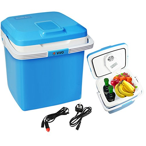 Vivo © 26L Electric Coolbox Cooler Hot Cold Portable Cool Box Car Home 240V AC & 12V DC