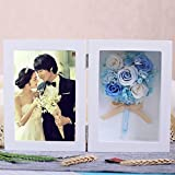 Immortal Flower Photo Frame Gift Box/Preserved Flower Rose Creative Ornaments/Birthday Gift/Mother's Day Gift-B