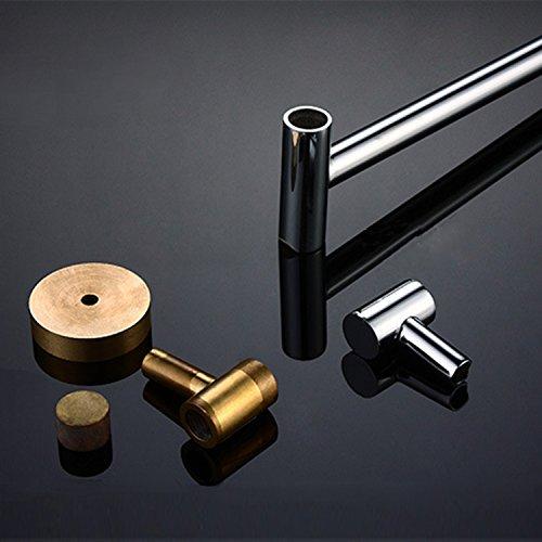 ThinkTop Luxury Bathroom Brass Rotate Three Swing Arms Towel Bar Rail Rack Holder Wall Mounted Swivel Holder Chrome Polishing Bathroom Accessories 85%OFF
