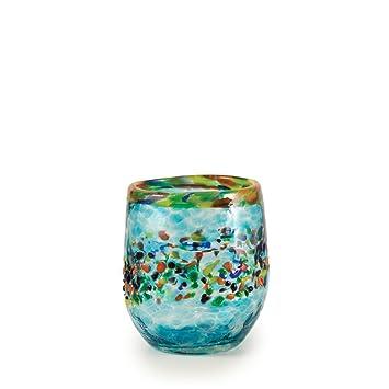 bambeco Aqua del sol a mano soplado de vidrio reciclado