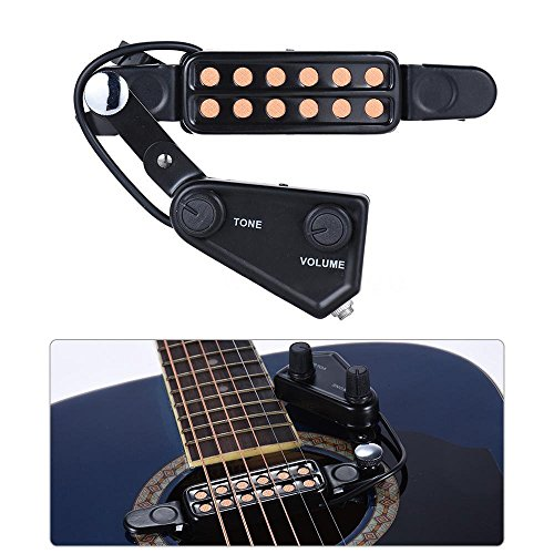 SILENCEBAN 12 SoundHole Guitar Pickup Acoustic Electric Transducer for...