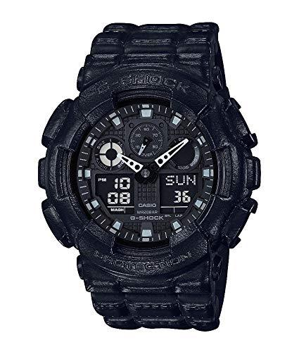 Casio Mens Digital Quartz Watch with Resin Strap GA-100BT-1AER