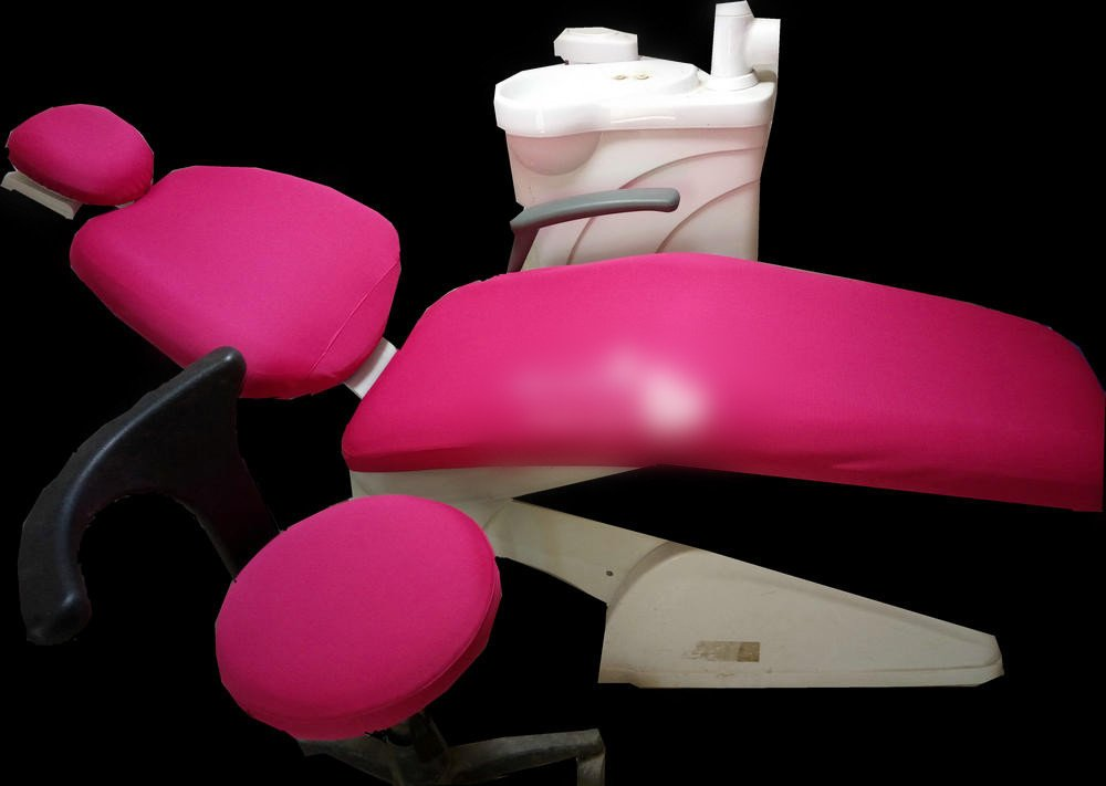 Dental Dentist Chair Cover Sleeves Protector Washable Dentist Cushion Hot Pink 1 Set