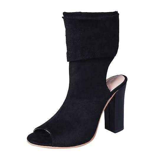 Hunzed Women【High-Top Sandals】 Womens Peep Toe Shoes Stylish High Heel (