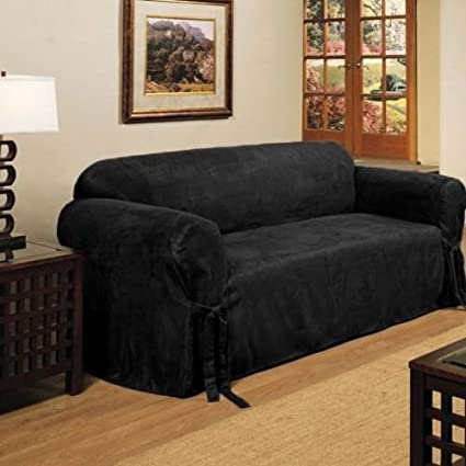 Amazon.com: Micro Suede Slipcover Sofa Loveseat Chair ...