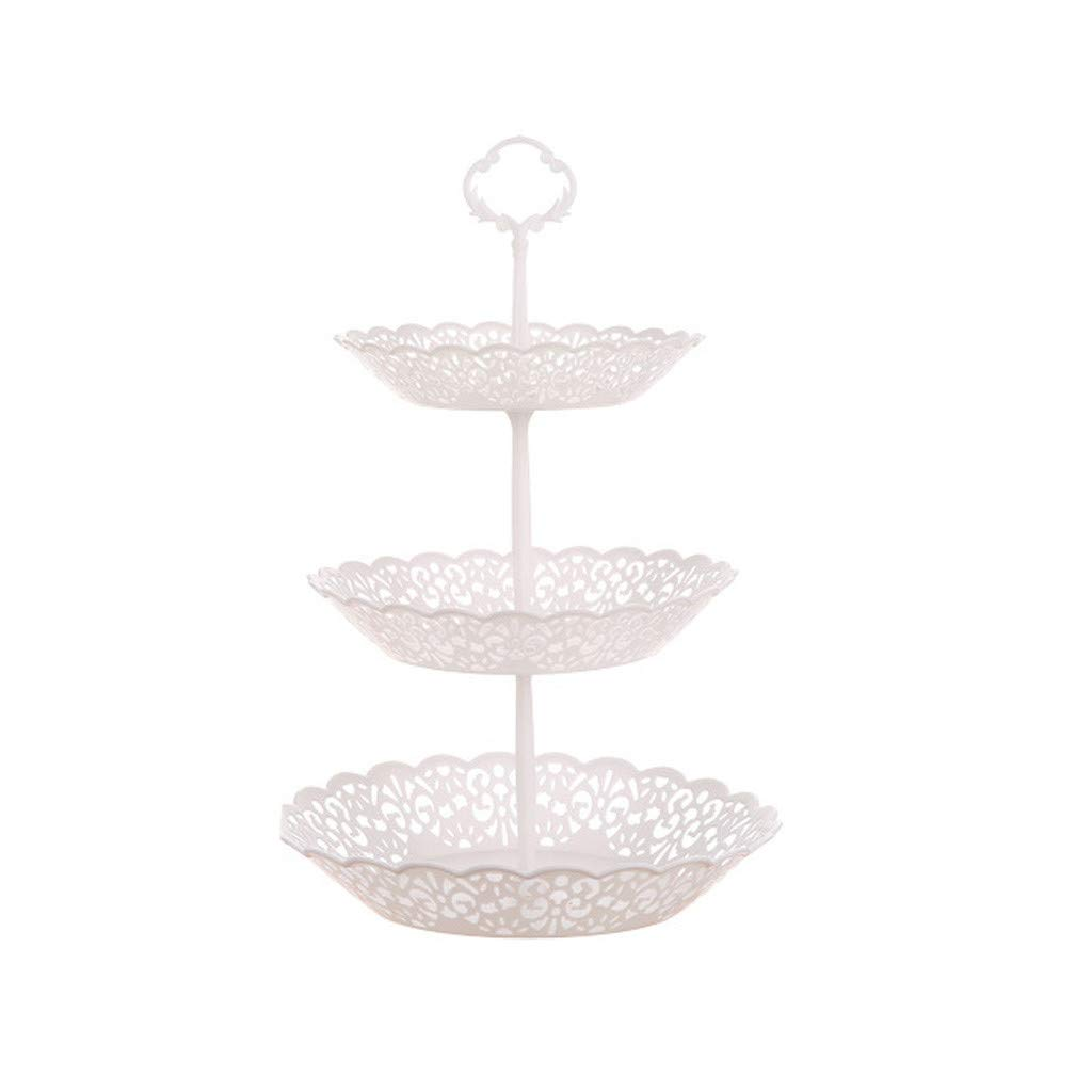 Vertily Dessert Stand Set Includes 3 Tier 2 Tiers Square//Heart//Round Cupcake Holder Rectangular Plate Tray for Wedding Birthday Party Fruits Desserts Candy Bar Display White