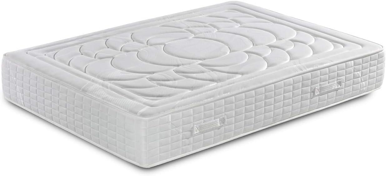 Colchón de Muelles Ensacados con viscoelástica 80X190 - Efecto Relax 7 Zonas de Confort - Altura 27 cm   Certificado Sanitized® yOeko-Tex®