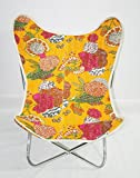 Butterfly Chair Cover Canvas Chair Cover, Kantha Butterfly Chair Cover With Frame