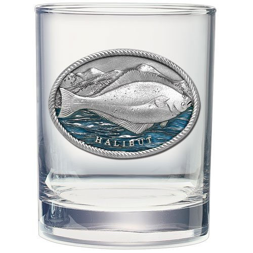 HALIBUT FISH 14 OZ DOUBLE OLD FASHIONED GLASS