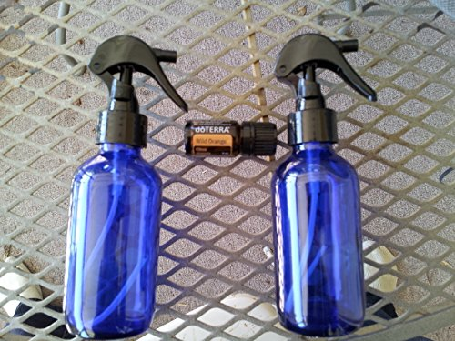 two-4oz-glass-bottle-spayer-blue-with-black-sprayers-set-with-doterra-wild-orange-5ml-from-merchant-